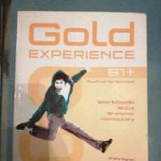 Libros de segunda mano: GOLD EXPERIENCE B1 +. WORKBOOK. Lote 187514170