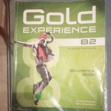 Libros de segunda mano: GOLD EXPERIENCE B2 STUDENTS BOOK. Lote 187515260