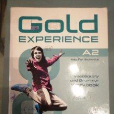 Libros de segunda mano: GOLD EXPERIENCE A2 WORKBOOK. Lote 187515988