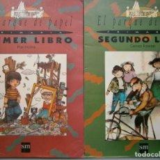 Libros de segunda mano: LOTE EL PARQUE DE PAPEL PRIMER Y SEGUNDO LIBRO PILAR MOLINA Y CARMEN POSADAS SM 1994 1996 . Lote 187543698