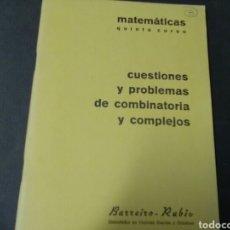Livros em segunda mão: CUADERNO DE MATEMÀTICA 5°CURSO EGB . COMBINATÒRIA Y COMPLEJOS BARREIRO -RUBIO. Lote 187621543