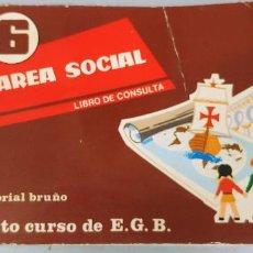 Libros de segunda mano: AREA SOCIAL LIBRO DE CONSULTA 8º OCTAVO CURSO EGB E.G.B BRUÑO 1972 . Lote 190025683