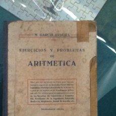 Libros de segunda mano: EJERCICIOS Y PROBLEMAS DE ARITMETICA. Lote 190056755