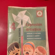 Libros de segunda mano: EXPRESIÓN ARTÍSTICA. LIBRO CUATRO. ED.EDELVIVES. 1969. ESTÁ FORRADO. Lote 190274417