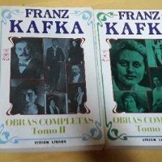 Libros de segunda mano: OBRAS COMPLETAS NOVELAS CUENTOS RELATOS TOMO 1-2-3-4 FRANZ KAFKA. Lote 191192182