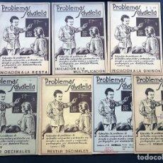 Libros de segunda mano: 7 CUADERNOS DIFERENTES / INICIACION / PROBLEMAS SALVATELLA AÑOS 50 - 60 / SIN USAR. Lote 192417252