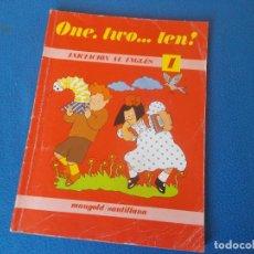 Libros de segunda mano: ONE , TWO . . . THREE . INICIACION AL INGLES ( NIVEL 1 ) . MANGOLD / SANTILLANA. Lote 192508862