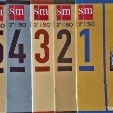 Libros de segunda mano: CUADERNOS DE MATEMÁTICAS 2º E.S.O. - EDITORIAL SM - COLECCIÓN COMPLETA. Lote 192931810