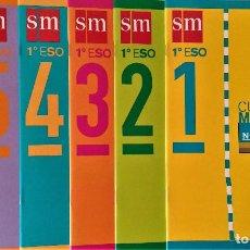 Libros de segunda mano: CUADERNOS DE MATEMÁTICAS 1º E.S.O. - EDITORIAL SM - COLECCIÓN COMPLETA. Lote 192932038