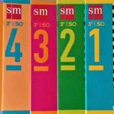 Libros de segunda mano: CUADERNOS DE MATEMÁTICAS 3º E.S.O. - EDITORIAL SM - COLECCIÓN COMPLETA. Lote 192937953