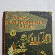 Livres d'occasion: NUEVA ENCICLOPEDIA ESCOLAR, 1ª GRADO, PERIODO DE ENSEÑANZA ELEMENTAL, HIJOS DE SANTIAGO RODRIGUEZ. Lote 193408030