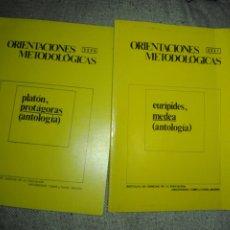 Libros de segunda mano: 3 CUADERNOS ORIENTACIONES METODOLÓGICAS. PLATÓN, PROTÁGORAS, EURÍPIDES, MEDEA. ANTOLOGÍA. Lote 193452602