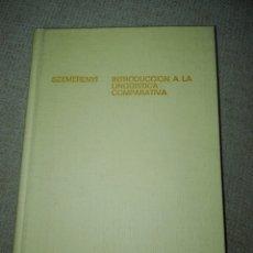 Libros de segunda mano: OSWALD SZEMERÉNYI INTRODUCCIÓN A LA LINGÜÍSTICA COMPARATIVA EDITORIAL GREDOS 1978. Lote 193662390