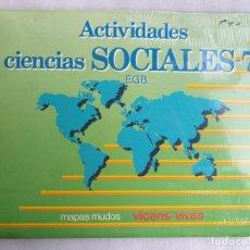 Libros de segunda mano: BLOC DE MAPAS MUDOS. ACTIVIDADES CIENCIAS SOCIALES 7 EGB. VINCES VIVES. NUEVO. EMBALAJE ORIGINAL. . Lote 193828476