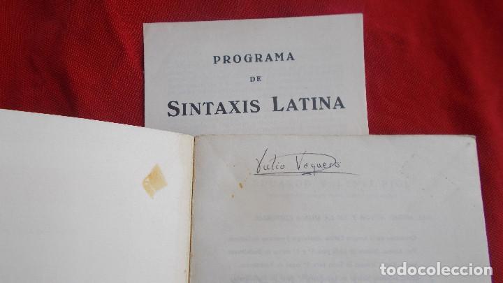 Libros de segunda mano: SINTAXIS LATINA ( ENSEÑANZA MEDIA ) - BOSH CASA EDITORIAL - 1974 - Foto 4 - 39770615