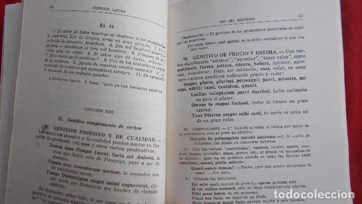 Libros de segunda mano: SINTAXIS LATINA ( ENSEÑANZA MEDIA ) - BOSH CASA EDITORIAL - 1974 - Foto 5 - 39770615