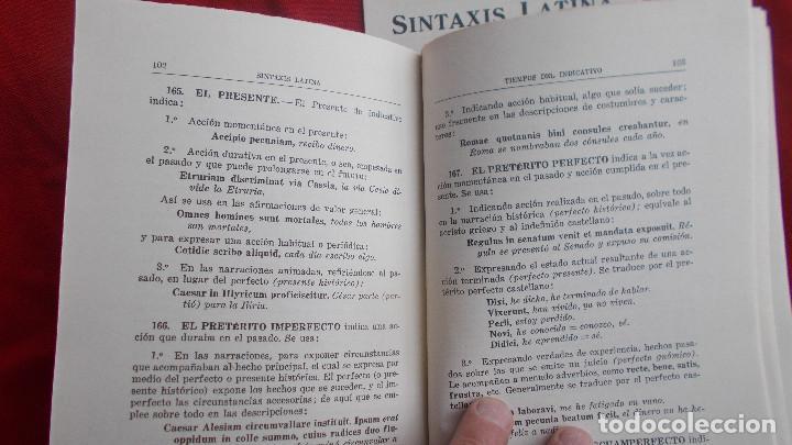 Libros de segunda mano: SINTAXIS LATINA ( ENSEÑANZA MEDIA ) - BOSH CASA EDITORIAL - 1974 - Foto 6 - 39770615