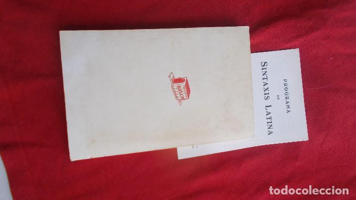 Libros de segunda mano: SINTAXIS LATINA ( ENSEÑANZA MEDIA ) - BOSH CASA EDITORIAL - 1974 - Foto 7 - 39770615