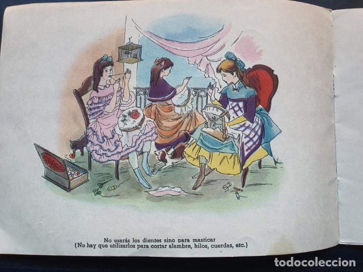 Libros de segunda mano: ALBUM PARA ILUMINAR. CONSEJOS DE HIGIENE DENTAL DE LA DIRECCIÓN GENERAL DE SANIDAD. - Foto 6 - 194216246