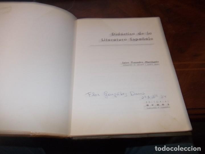Libros de segunda mano: Didáctica de la literatura española. Luisa Yravedra. 2ª curso (Plan 1967) Edit. Ochoa - Foto 2 - 194318670