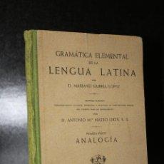 Libros de segunda mano: GRAMÁTICA ELEMENTAL DE LA LENGUA LATINA. PRIMERA PARTE. ANALOGÍA.. Lote 194320860