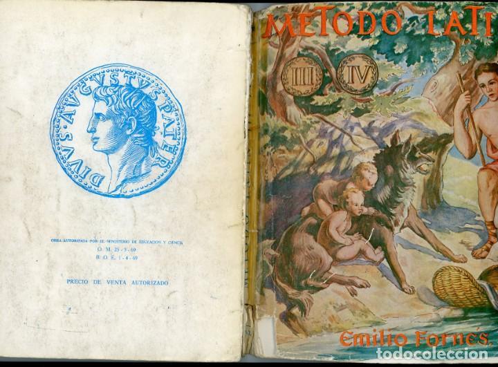 Libros de segunda mano: Método de Latín para 3º y 4º de Bachillerato. Emilio Fornés, SL. - Foto 5 - 194322746