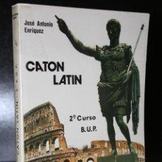 Libros de segunda mano: CATÓN. LATIN. 2º CURSO. B.U.P.. Lote 194325470