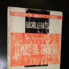 Libros de segunda mano: TEMAS DE EXÁMENES DE GRADO SUPERIOR DE BACHILLERATO. GRIEGO (METODOLOGÍA-TEMAS).. Lote 194377465