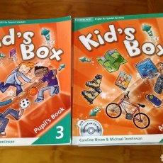 Libros de segunda mano: LIBROS INGLÉS KID`S BOX 3 CAMBRIDGE. Lote 194378178
