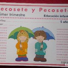 Libros de segunda mano: PECOSETE Y PECOSET ( EDUCACIÓN INFANTIL 5 AÑOS ) - ALGAIDA -. Lote 194402027