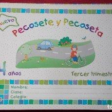 Libros de segunda mano: PECOSETE Y PECOSETA ( EDUCACIÓN INFANTIL DE 4 AÑOS) - ALGAIDA -. Lote 194402073