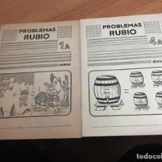 Libros de segunda mano: PROBLEMAS RUBIO LOTE 2 CUADERNOS SUMAR Y DIVIDIR (COIB59). Lote 194514812