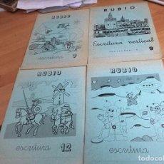 Libros de segunda mano: PROBLEMAS RUBIO LOTE 4 CUADERNOS ESCRITURA (COIB59). Lote 194515437