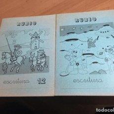 Libros de segunda mano: PROBLEMAS RUBIO LOTE 2 CUADERNOS ESCRITURA . PORTADA QUIJOTE 1 (COIB59). Lote 194515696