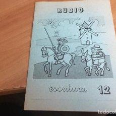Libros de segunda mano: PROBLEMAS RUBIOCUADERNOS ESCRITURA . PORTADA QUIJOTE (COIB59). Lote 194515792