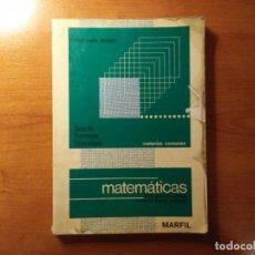 Libros de segunda mano: MATEMÁTICAS CURSO DE ORIENTACIÓN UNIVERSITARIA CUESTIONARIO NACIONAL GARCÍA GARCÍA LÓPEZ PELLICER. Lote 194515836