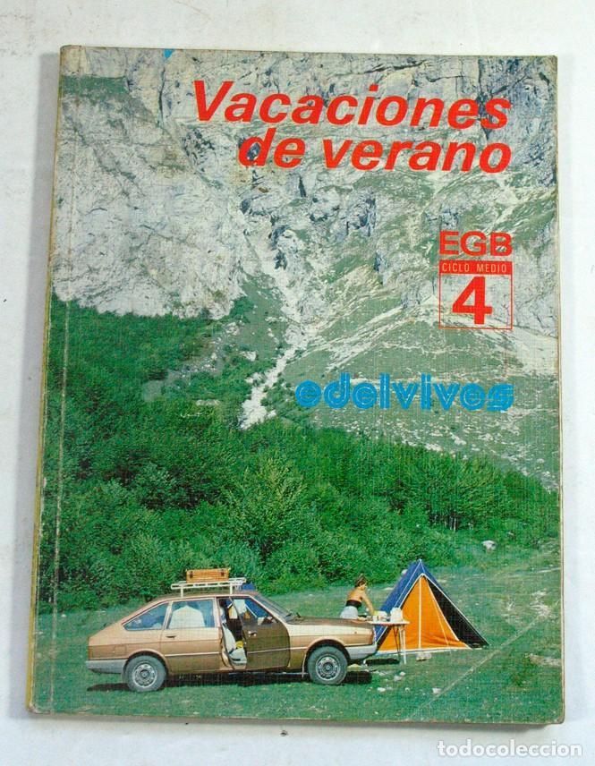 VACACIONES DE VERANO EDELVIVES. EGB CICLO MEDIO 4. 1984. FUTBOL (Libros de Segunda Mano - Libros de Texto )
