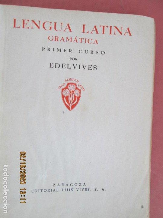 Libros de segunda mano: LENGUA LATINA , GRAMATICA PRIMER CURSO - LUIS VIVES 1941 - Foto 2 - 194626446