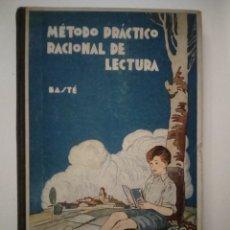 Libros de segunda mano: MÉTODO PRÁCTICO RACIONAL DE LECTURA. JUAN BASTÉ SERAROLS. Lote 194643092