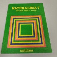 Libros de segunda mano: NATURALEZA 7 EGB 7º E.G.B. CICLO SUPERIOR SANTILLANA NUEVO DE LIBRERIA SIN USAR. Lote 194649805