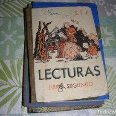 Libros de segunda mano: LECTURAS SEGUNDO GRADO S.T.J. 1950 , UNICO EN TODOCOLECCION. Lote 194653132