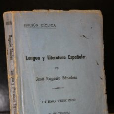 Libros de segunda mano: LENGUA Y LITERATURA ESPAÑOLA. CURSO TERCERO.. Lote 194657740