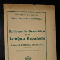 Libros de segunda mano: EPÍTOME DE GRAMÁTICA DE LA LENGUA ESPAÑOLA. PARA LA PRIMERA ENSEÑANZA.. Lote 194706391