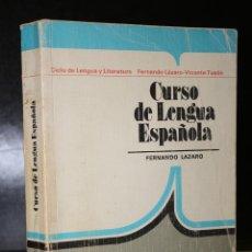 Libros de segunda mano: CURSO DE LENGUA ESPAÑOLA.. Lote 194707543