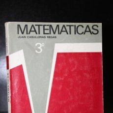 Libros de segunda mano: MATEMÁTICAS 3º.. Lote 194709420
