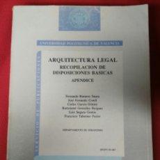 Libros de segunda mano: ARQUITECTURA LEGAL. Lote 194858635