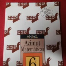 Libros de segunda mano: MATEMATICAS 6 E.G.B. ANAYA. Lote 194859271