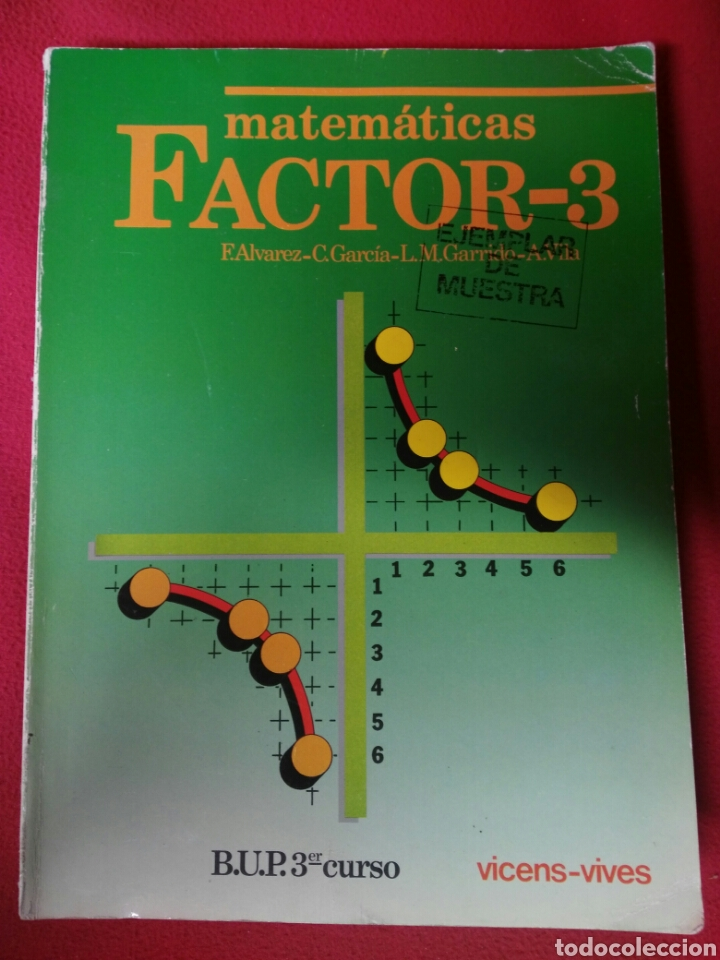 MATEMATICAS FACTOR 3 B.U.P.3 (Libros de Segunda Mano - Libros de Texto )