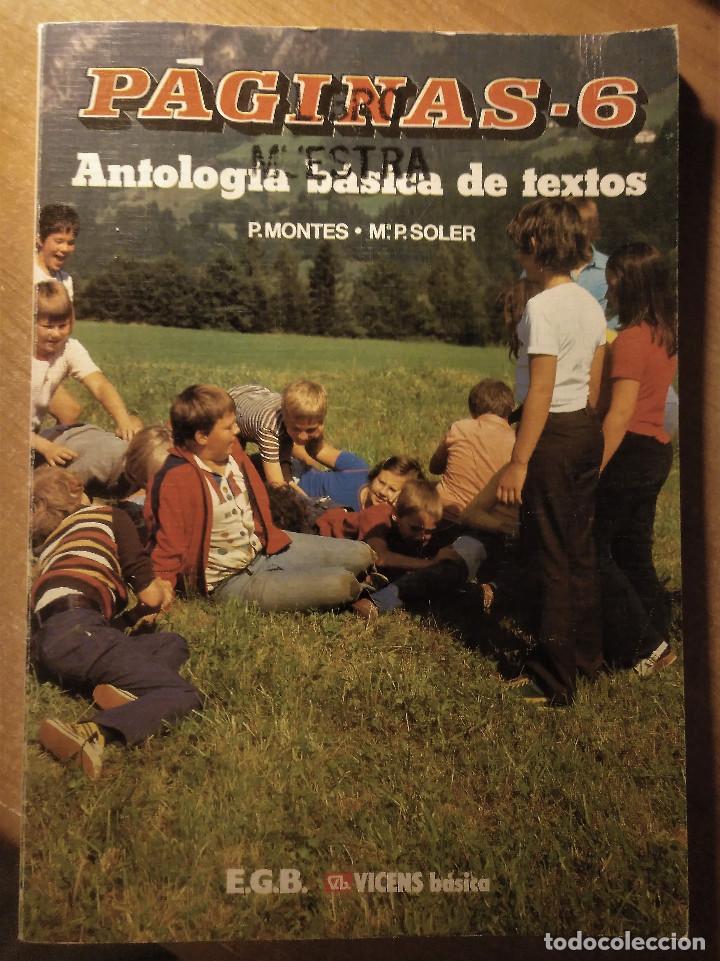 Libros de segunda mano: Páginas 6, Antología básica de textos, Montes-Soler, E.G.B, 1988 - Foto 2 - 194895731