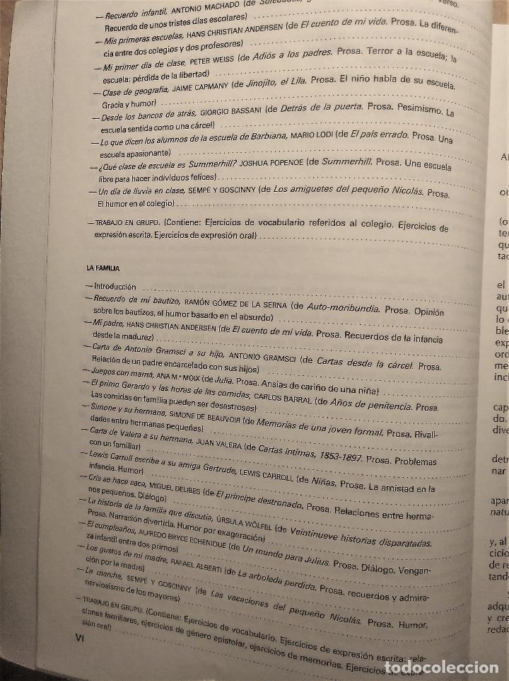 Libros de segunda mano: Páginas 6, Antología básica de textos, Montes-Soler, E.G.B, 1988 - Foto 6 - 194895731